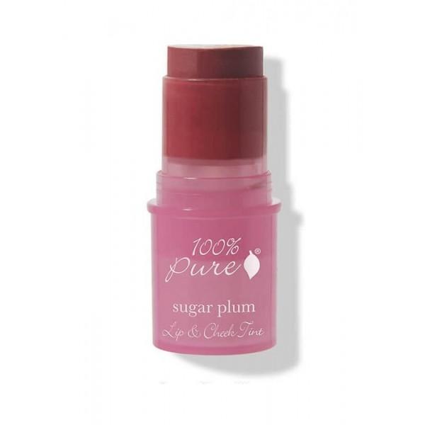 Nuantator satinat pentru buze si obraji Sugar Plum- 100 Percent Pure Cosmetics