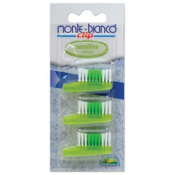Set capete sensitive nylon pentru periuta - Monte Bianco