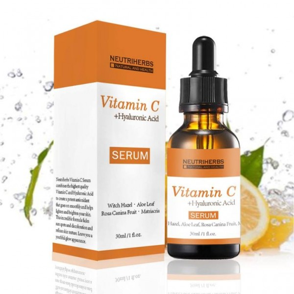 Serum cu Acid Hialuronic si Vitamina C 100% Natural - Neutriherbs