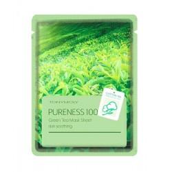 Masca cu efect calmant, PURENESS 100, cu ceai verde, 21ml - TONYMOLY
