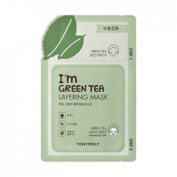 Masca in 2 pasi pentru calmare cu ceai verde, 23g - TONYMOLY