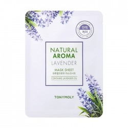 Masca pentru elasticitate, Natural Aroma, cu lavanda, 21g - TONYMOLY