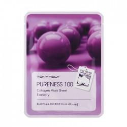Masca pentru elasticitate, PURENESS 100, cu colagen, 21ml - TONYMOLY
