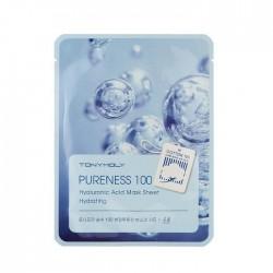 Masca pentru hidratare, PURENESS 100, cu Acid Hialuronic, 21ml - TONYMOLY