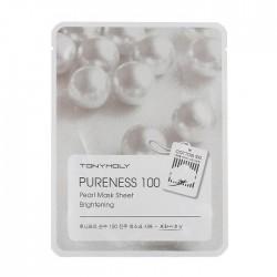 Masca pentru luminozitate, PURENESS 100, cu perla, 21ml - TONYMOLY