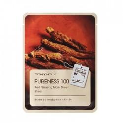 Masca pentru stralucire, PURENESS 100, cu ginseng rosu, 21ml - TONYMOLY