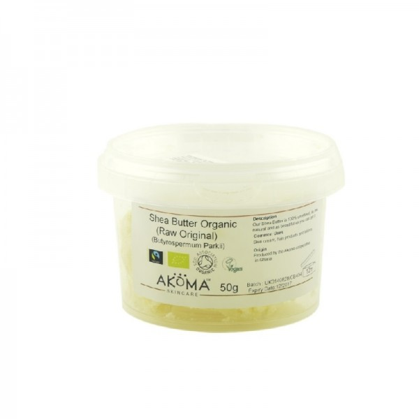 Unt organic de shea nerafinat Akoma Skincare - refill 50g
