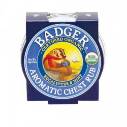 Mini balsam aromatic pt. desfundarea nasului si respiratie regulata, Chest Rub - Badger