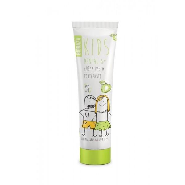 Pasta de dinti naturala pentru copii 6+ cu aroma de mar verde - BIOBAZA