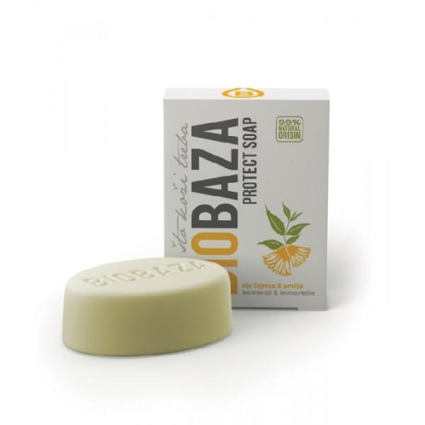 Sapun antibacterian cu tea tree si imortele - BIOBAZA