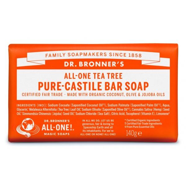 Sapun solid de Castilia cu Arbore de Ceai - Dr Bronner's