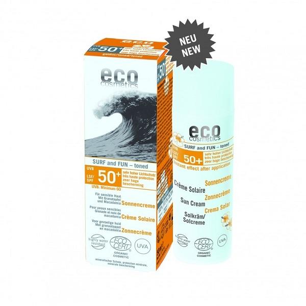 Crema bio cu protectie solara FPS 50+ extra-rezistenta la apa, SURF & FUN - Eco Cosmetics