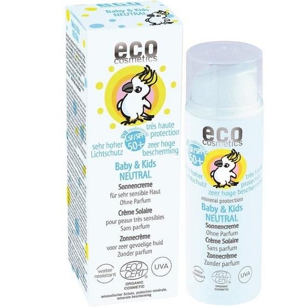 Crema bio protectie solara bebe si copii FPS50, piele foarte sensibila, fara parfum - Eco-Cosmetics