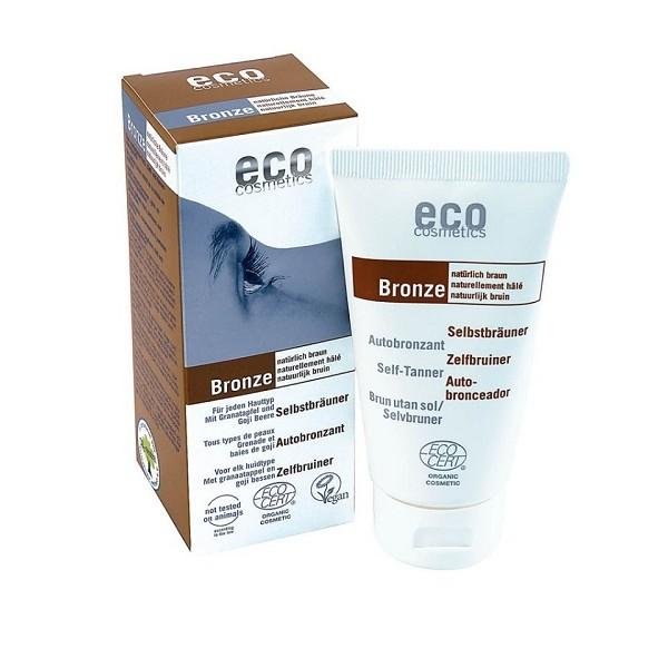 Fluid autobronzant bio pentru fata si corp cu rodie si extract de goji - Eco Cosmetics