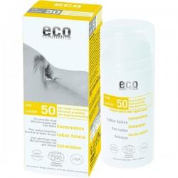 Lotiune fluida de protectie solara FPS50 cu goji si rodie - Eco Cosmetics