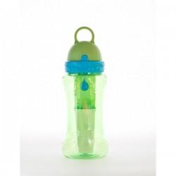 Sticla de apa cu filtru de carbon si gel de racire non toxic, 414 ml VERDE - Irisana