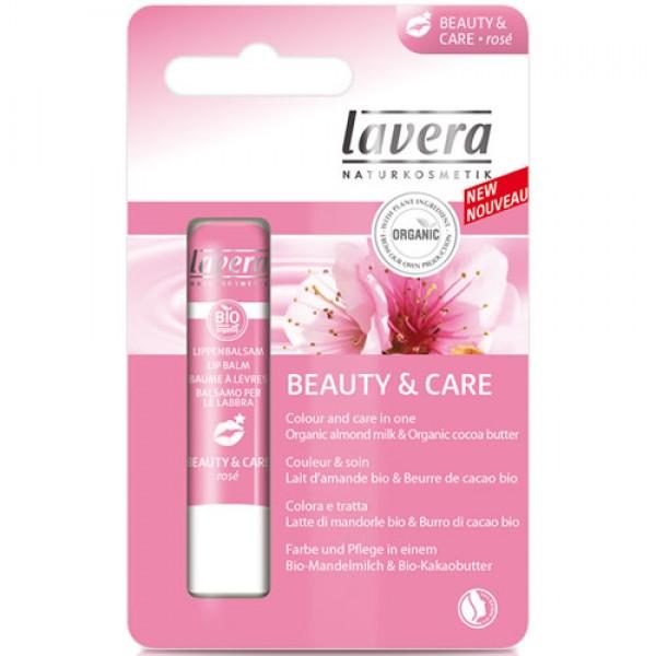 Balsam de buze nuantat Beauty&Care, Rose - LAVERA