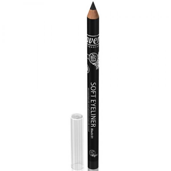 Creion BIO contur ochi Negru 01 - LAVERA