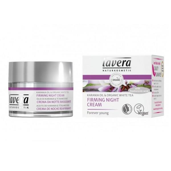 Crema de noapte pentru fermitate cu fitocolagen, acid hialuronic si ulei de karanja - LAVERA