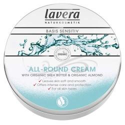 MINI Crema hidratanta multifunctionala cu unt de shea Basis Sensitiv - LAVERA