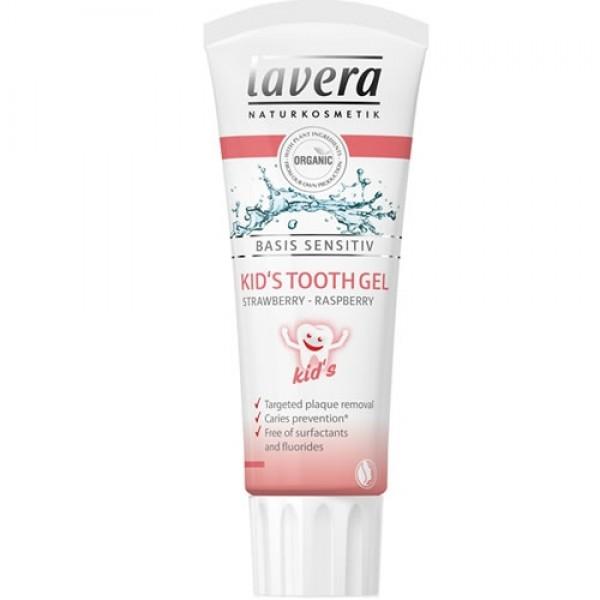 Pasta de dinti BIO pentru copii cu capsuni si zmeura, Basis Sensitiv - LAVERA