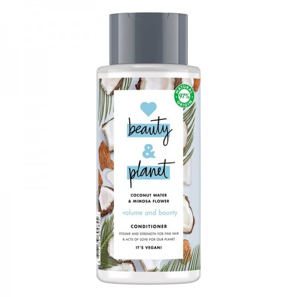 Balsam Coconut Water and Mimosa Flower, 400ml - Love Beauty and Planet