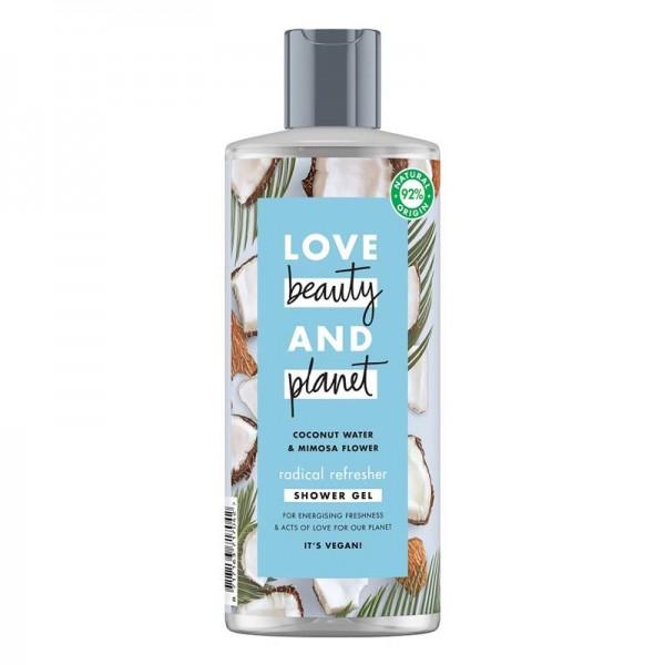 Gel De Dus Coconut Water and Mimosa Flower, 500ml - Love Beauty and Planet