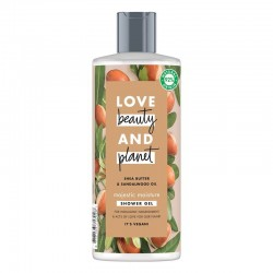 Gel De Dus Shea Butter and Sandalwood Oil, 500ml - Love Beauty and Planet