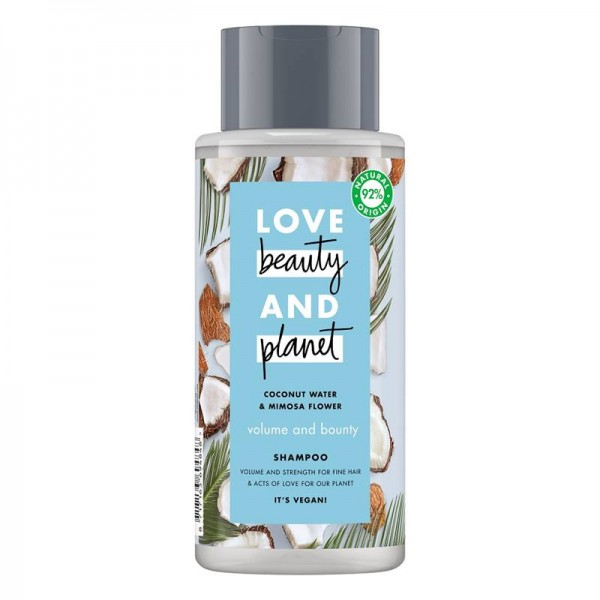 Sampon Coconut Water and Mimosa Flower, 400ml - Love Beauty and Planet