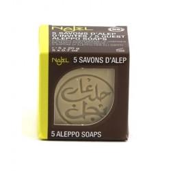 Pachet sapun de Alep mini, 5 buc X 20g - NAJEL