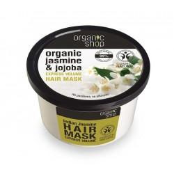 Masca de par bio pentru volum cu iasomie indiana si jojoba - Organic Shop