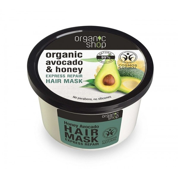 Masca de par bio reparatoare cu miere si avocado - Organic Shop