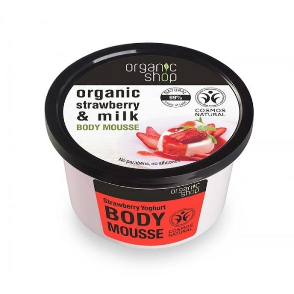 Mousse delicios pentru corp Strawberry Yoghurt - Organic Shop