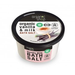 Sare de baie cu vanilie Vanilla Milk - Organic Shop