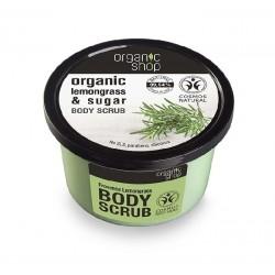 Scrub de corp delicios cu zahar si lemongrass Provence Lemongrass - Organic Shop