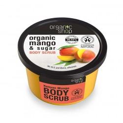 Scrub de corp delicios cu zahar si mango Kenyan Mango - Organic Shop