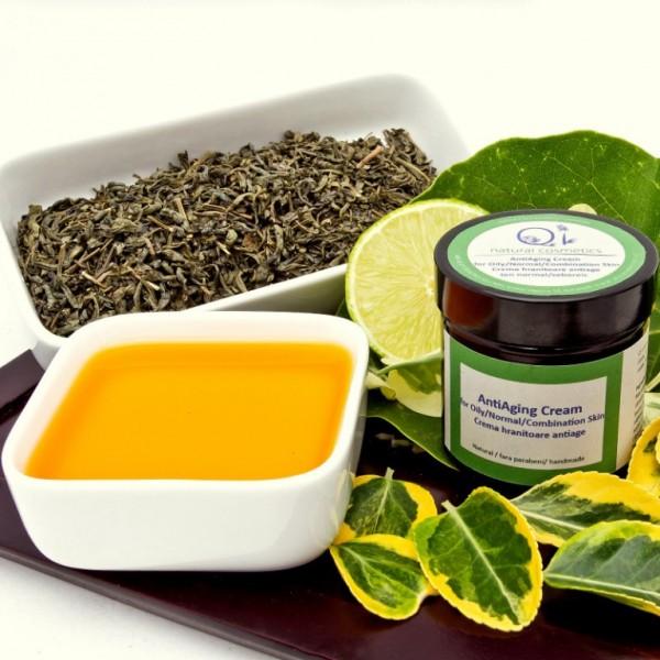 Crema anti-imbatranire pentru ten gras - QI Cosmetics | Longeviv.ro