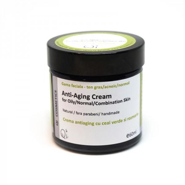 Crema anti-age pentru ten gras  - QI Cosmetics