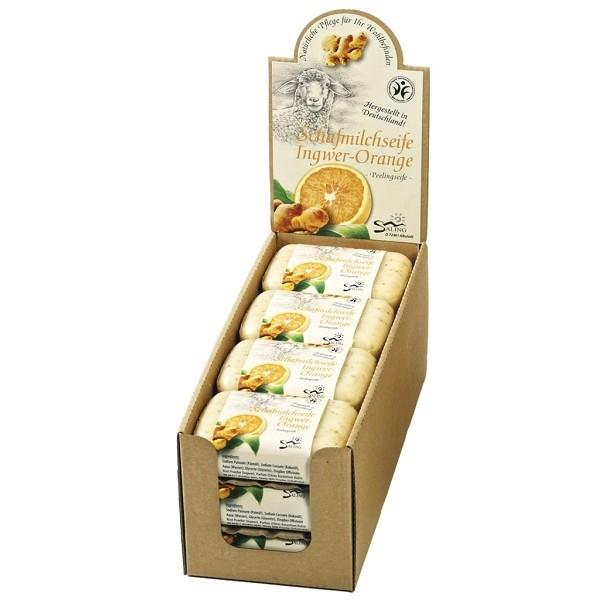 Sapun cremos cu lapte de oaie, ghimbir si portocale (exfoliant) - Saling Naturprodukte