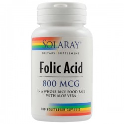 Acid folic 800mcg - Solaray