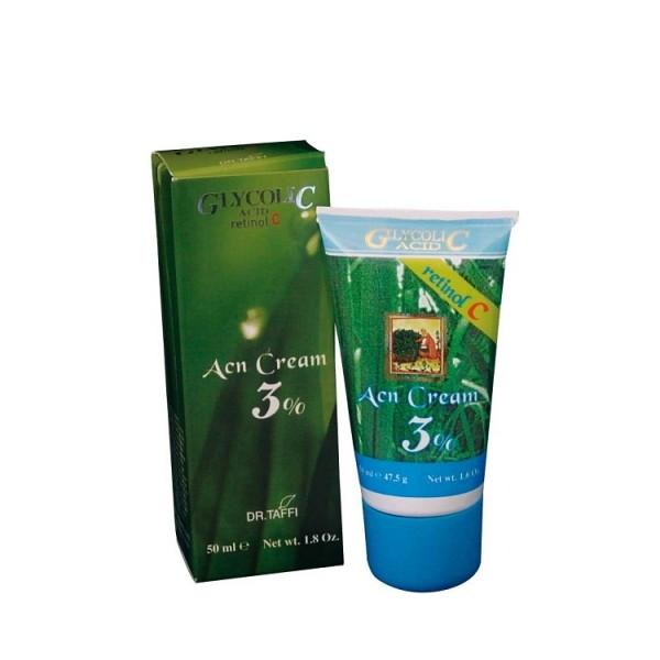 Acn Crema, Acid Glicolic 3% - Dr. Taffi