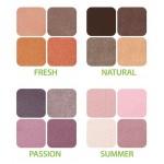 Paleta farduri de pleoape organice - ZUII Organic